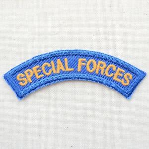 ミリタリーワッペン Special Forces アメリカ陸軍 ブルー 扇形|wappenstore