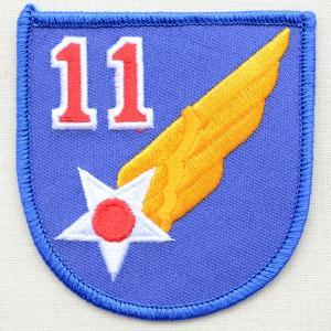 ミリタリーワッペン 11th Air Force エアフォース アメリカ空軍 ブルー PM0154|wappenstore
