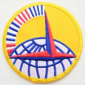 ミリタリーワッペン Air Trans Command アメリカ空軍 イエロー ラウンド PM0163|wappenstore