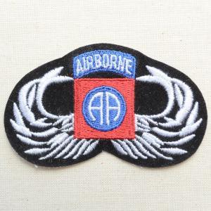 ミリタリーワッペン Airborne AA エアボーン オールアメリカン 陸軍 PM0179|wappenstore