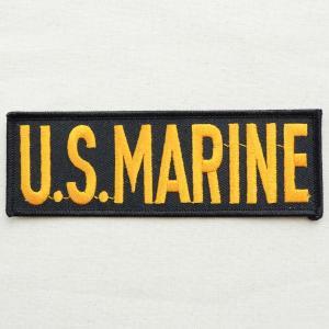 ミリタリーワッペン U.S.Marine アメリカ海兵隊 Tab(ブラック&ゴールド) PM0238|wappenstore