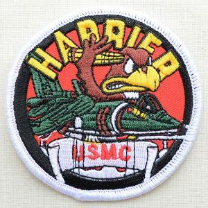 ミリタリーワッペン Harrier USMC キャラクター(ラウンド) PM0250|wappenstore