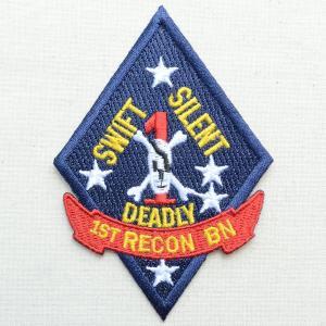 ミリタリーワッペン 1st RECON BN リーコン アメリカ海兵隊 第一海兵師団 PM0618|wappenstore