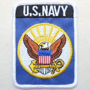 ミリタリーワッペン U.S.Navy ネイビー アメリカ海軍 レクタングル PM1189|wappenstore