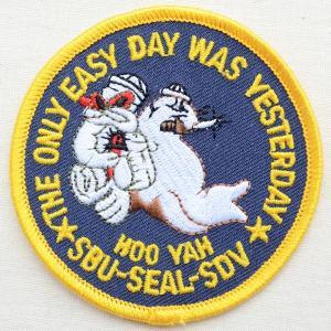 ミリタリーワッペン SEAL SBU/SDV アメリカ海軍(ラウンド) PM1216|wappenstore