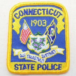 ポリスエンブレムワッペン アメリカ/コネチカット州警察 PM3307 wappenstore