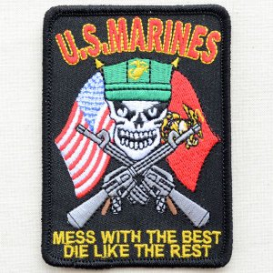 ミリタリーワッペン U.S.Marines マリン(Mess w/Best) PM5964|wappenstore