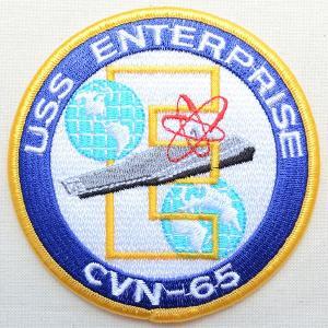 ミリタリーワッペン USS Enterprise 戦艦 アメリカ海軍 PM7264|wappenstore