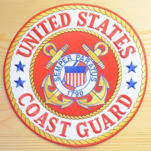 特大ミリタリーワッペン U.S.Coast Guard コーストガード(ラウンド) PM9041 *メール便不可|wappenstore