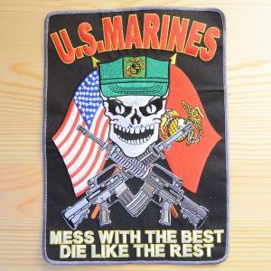 特大ミリタリーワッペン U.S.Marines アメリカ海兵隊(Mess w/Best) PM9074|wappenstore