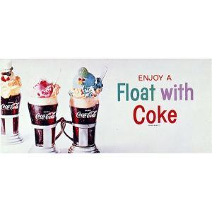 コカコーラ Coca-Cola ポスター(フロートwithコーク/49x71cm) PO-C12 *メール便不可|wappenstore