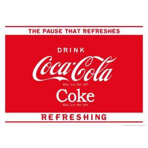 コカコーラ Coca-Cola ポスター(ポーズ/51x72cm) PO-C16 *メール便不可|wappenstore