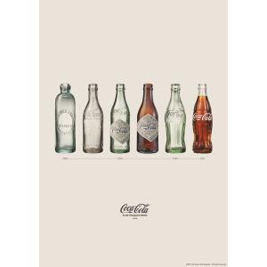 コカコーラ Coca-Cola ポスター(ボトルヒストリーV/縦長/72x51cm) PO-C17 *メール便不可|wappenstore