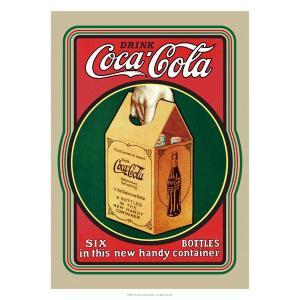 コカコーラ Coca-Cola ポスター(6ボトル/72x51cm) PO-C20 *メール便不可|wappenstore