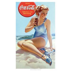 コカコーラ Coca-Cola ポスター(ビーチ/72x51cm) PO-C21 *メール便不可|wappenstore