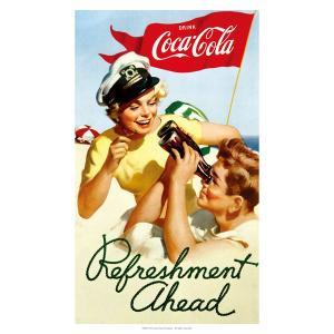 コカコーラ Coca-Cola ポスター(リフレッシュメント/72x51cm) PO-C22 *メール便不可|wappenstore