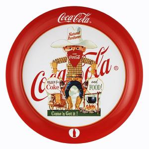 コカコーラ Coca-Cola トレイ(カウボーイ/ラウンド) PT-R5B *メール便不可|wappenstore