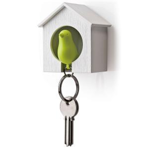 かわいい小鳥のキーホルダー スパローキーリング(ホワイトハウス) クオリー(全8色) *メール便不可