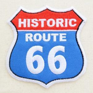 アメリカンワッペン U.S.Route66 ヒストリックルート66(レッド/ブルー) ロードサイン|wappenstore