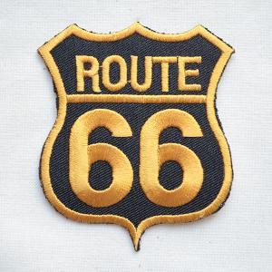 アメリカンワッペン U.S.Route66 ルート66(ゴールド) ロードサイン|wappenstore