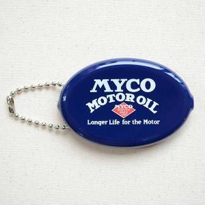 ラバーコインケース マイコモーターオイル/MYCO MOTOR OIL(ネイビー) 小銭入れ キーホルダー アメリカ製 RCC-007|wappenstore