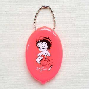 ラバーコインケース ベティブープ Betty Boop(ネオンピンク) 小銭入れ キーホルダー アメリカ製 RCC-BB7|wappenstore
