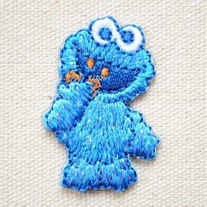 ワッペン セサミストリート クッキーモンスター/Cookie Monster 名前 作り方 S01I5212|wappenstore