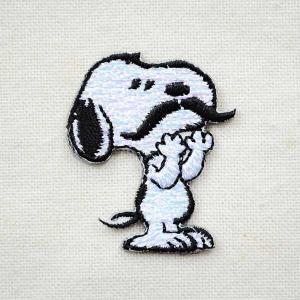 シールワッペン スヌーピー Snoopy(マスタッシュ/ヒゲ) S02Y9468|wappenstore