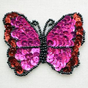 ワッペン バタフライ(蝶々/スパンコール)|wappenstore