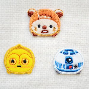 シールワッペン スターウォーズツムツム ウィケット・C-3PO・R2-D2(3枚組) STA500-STA03|wappenstore