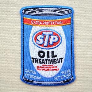 ワッペン STP オイル缶 名前 作り方 STPW-002|wappenstore
