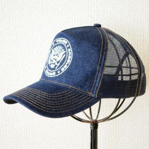 帽子/メッシュキャップ トラックブランド Shield(デニム) D2 [メール便不可]|wappenstore