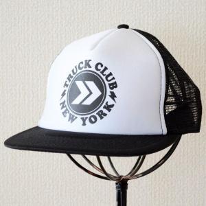 帽子/メッシュキャップ トラックブランド Buzz(ブラック&ホワイト/フラットブリム) F19 [メール便不可]|wappenstore