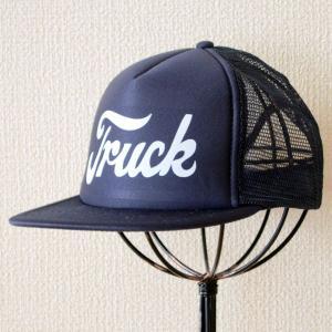 帽子/メッシュキャップ トラックブランド Detroit(ネイビー/フラットブリム) F3 [メール便不可]|wappenstore