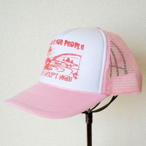 帽子/メッシュキャップ トラックブランド Fish(フィッシング/ピンク&ホワイト) [メール便不可]|wappenstore