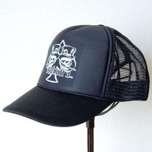 帽子/メッシュキャップ トラックブランド Dealer(スペードスカル/ブラック) MG29 [メール便不可]|wappenstore