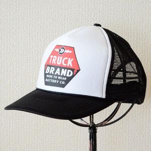 帽子/メッシュキャップ トラックブランド Battery(ブラック&ホワイト) N1 [メール便不可]|wappenstore