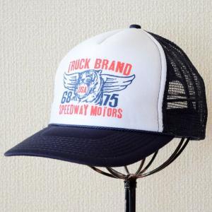 帽子/メッシュキャップ トラックブランド Tiger(ネイビー&ホワイト) N4 [メール便不可]|wappenstore