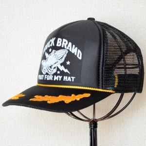 帽子/メッシュキャップ トラックブランド Pray(ブラック/刺繍入り) アポロキャップ R4 *メール便不可|wappenstore