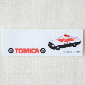 ネームラベル/名前アイロンシール トミカ 日産セドリックパトロールカー(パトカー/4枚組) TC250-60852|wappenstore