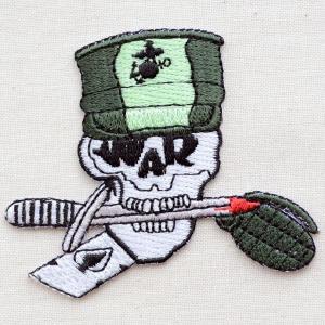 ミリタリーワッペン War Skull スカル/どくろ W194|wappenstore