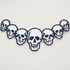ワッペン Skull マルチスカルフェイス(どくろ/ガイコツ) W417 wappenstore