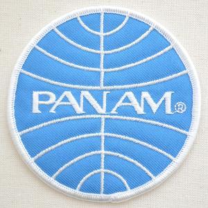 ロゴワッペン パンアメリカン航空 パンナム PANAM(ラウンド) WA0024|wappenstore