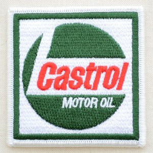 ロゴワッペン カストロール Castrol モーターオイル(スクエア) WD0027|wappenstore