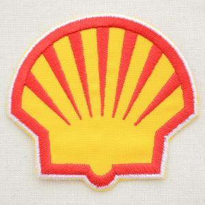 ロゴワッペン シェル Shell オイル(ダイカット) WD0125|wappenstore