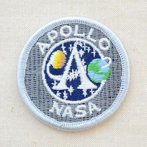 ロゴワッペン アポロナサ APOLLO NASA(Sサイズ) 名前 作り方 WDM0054|wappenstore