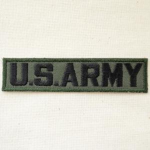 ミリタリーワッペン U.S.Army アーミー Tab アメリカ陸軍(OD/カーキ) WM0007|wappenstore