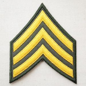 ミリタリーワッペン U.S.Army アーミー アメリカ陸軍軍曹階級章|wappenstore