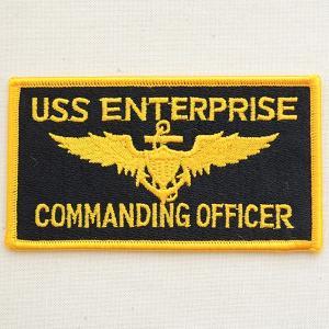 ミリタリーワッペン USS Enterprise エンタープライズ コマンディングオフィサー アメリカ海軍 WM0083|wappenstore