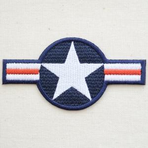 ミリタリーワッペン アメリカ航空国際標識(国籍マーク) 星 アメリカ空軍 WM0098|wappenstore